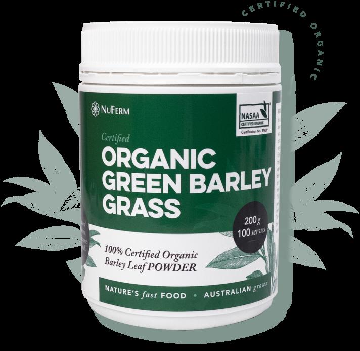Nuferm Organic Green Barley Grass