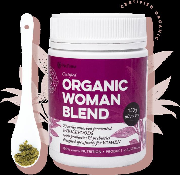 Nuferm's Organic Woman Probiotic & Prebiotic Blend