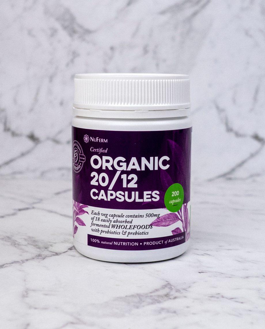 Organic 20/12 Capsules